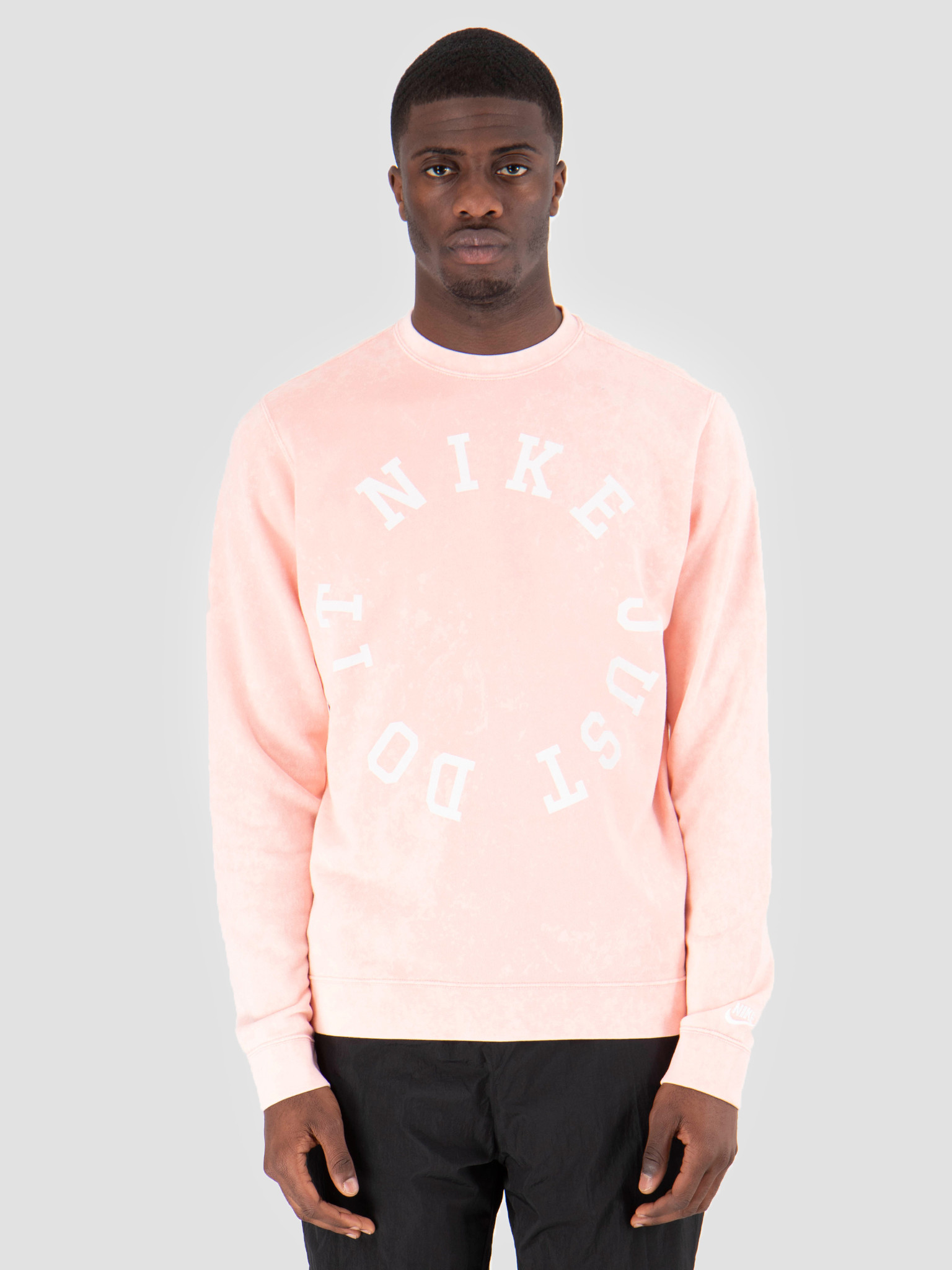 Nike Nike Nsw Ce Crewneck Ft Wash Bleached Coral Summit White AR2929-697