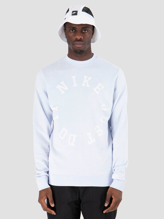 Nike Nsw Ce Crewneck Ft Wash Half Blue Summit White AR2929-442