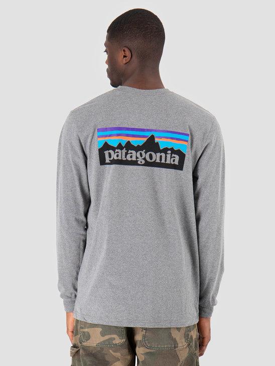 Patagonia P 6 Logo Responsibili Longsleeve Gravel Heather 39161