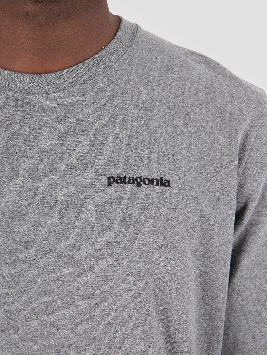 Patagonia Patagonia P 6 Logo Responsibili Longsleeve Gravel Heather 39161