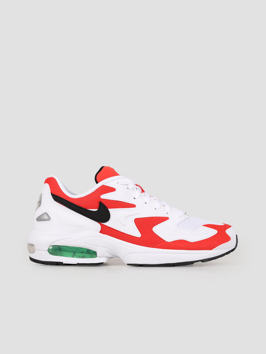 Nike Air Max 2 Light White Black Habanero Red Cool Grey AO1741-101