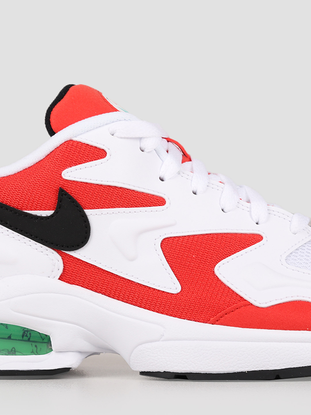 Nike Nike Air Max 2 Light White Black Habanero Red Cool Grey AO1741-101