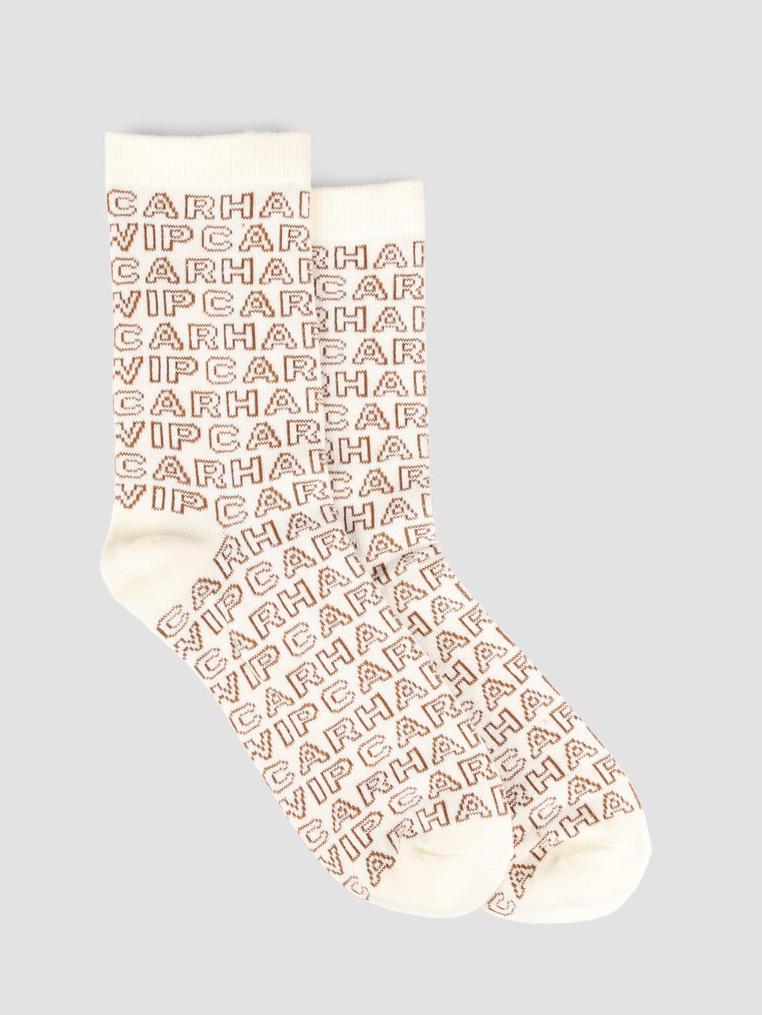 Carhartt WIP Carhartt WIP Typo Socks Wax Hamilton brown 61159500