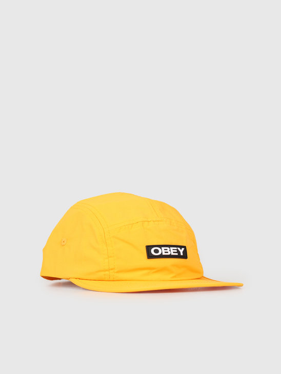 Obey Depot 5 Panel Hat Energy Yellow 100490056-EYL