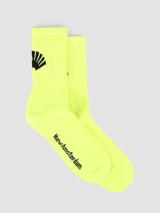 New Amsterdam Surf association Logo Socks Safety Green 2018018