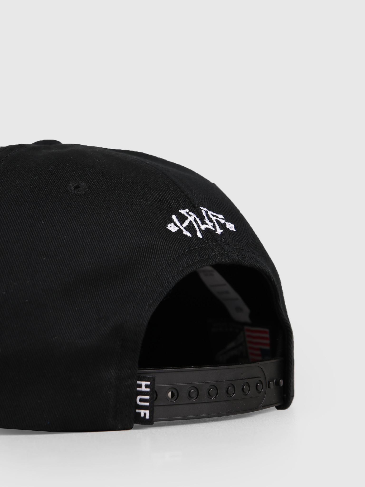 HUF HUF Boner Classic H Snapback Hat Black HT00371
