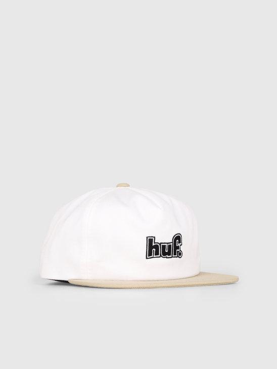 HUF 1993 Logo Strapback Hat White HT00362