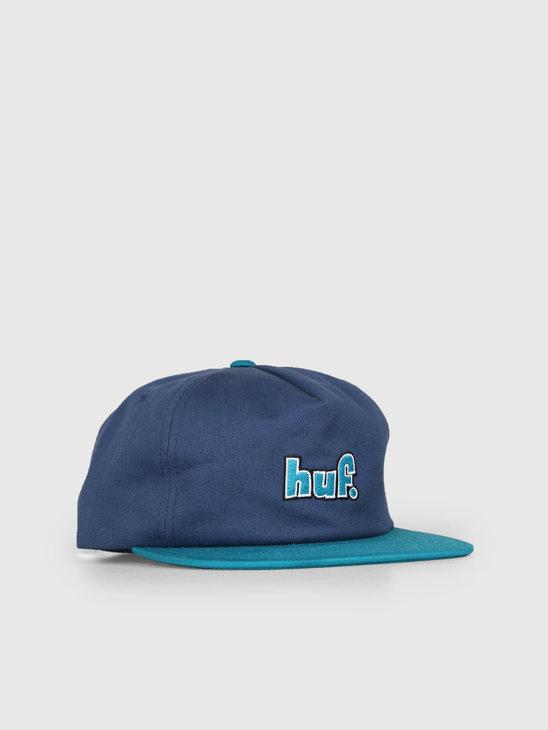HUF 1993 Logo Strapback Hat Insignia Blue HT00362