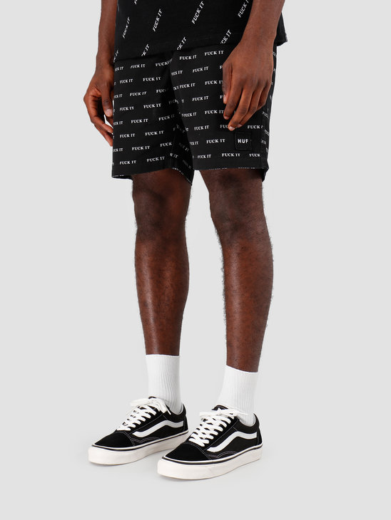 HUF Fuck It Easy Short Black PT00086