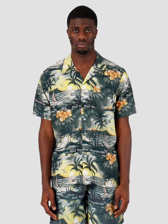 HUF Venice Shortsleeve Woven Shirt Black BU00050