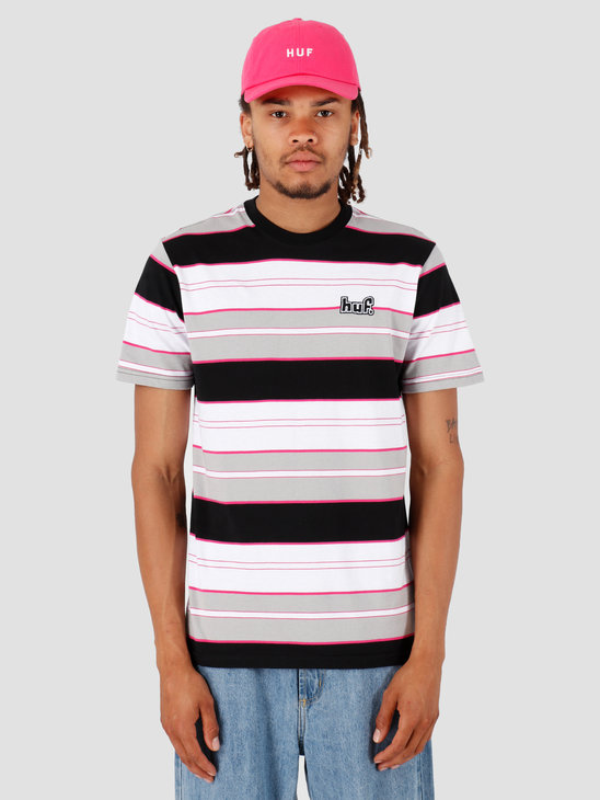 HUF Upland Shortsleeve Knit Top Black KN00107
