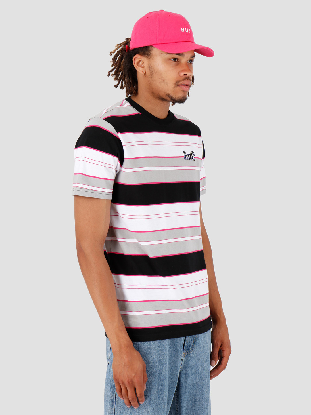 HUF HUF Upland Shortsleeve Knit Top Black KN00107