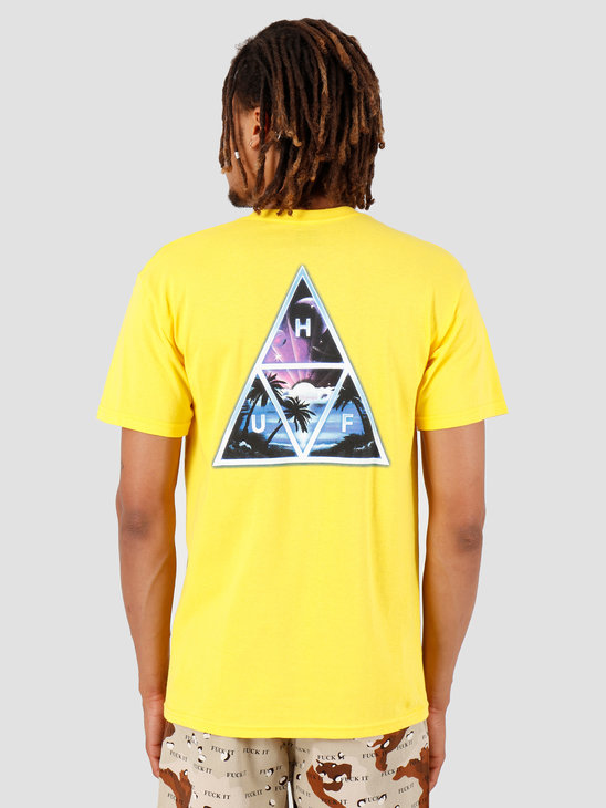 HUF Space Beach TT Shortsleeve Yellow TS00726
