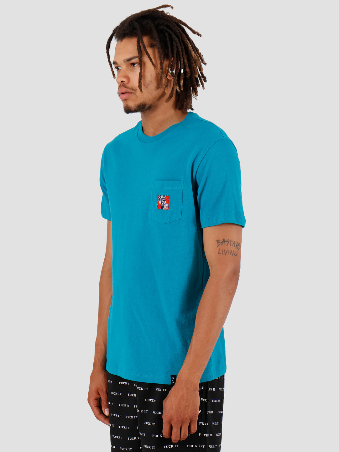 HUF HUF Semitropic Shortsleeve Pocket Biscay Bay TS00711