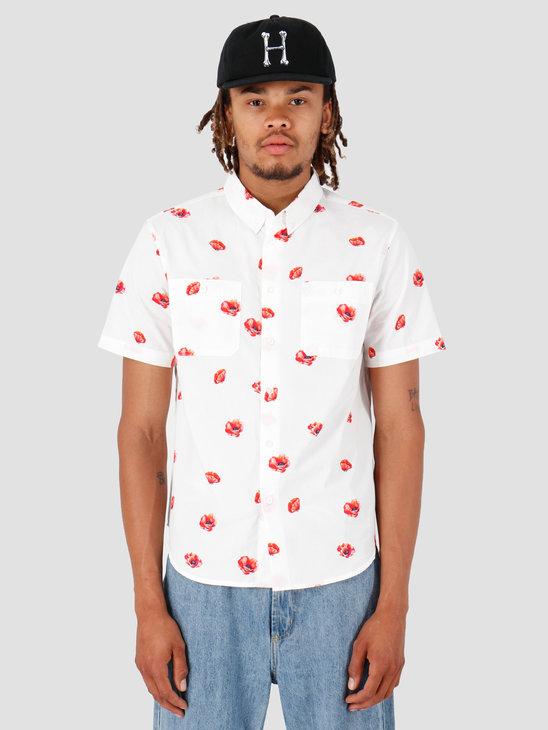 HUF Poppy Shortsleeve Woven Shirt White BU00052