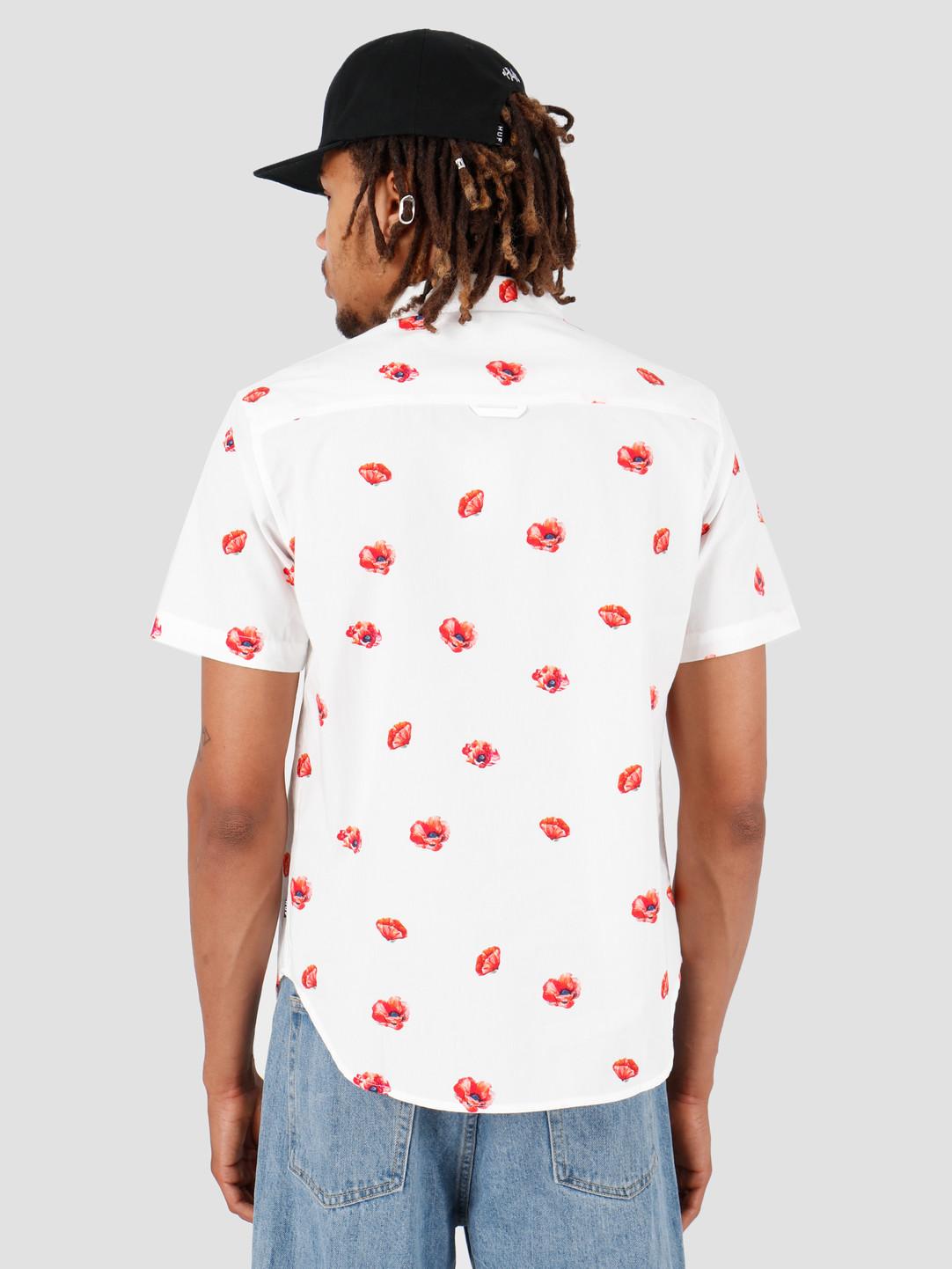 HUF HUF Poppy Shortsleeve Woven Shirt White BU00052