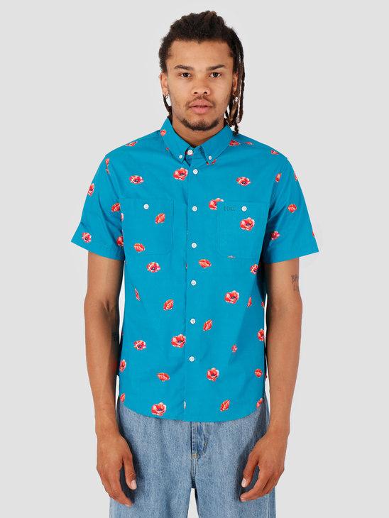HUF Poppy Shortsleeve Woven Shirt Biscay Bay BU00052