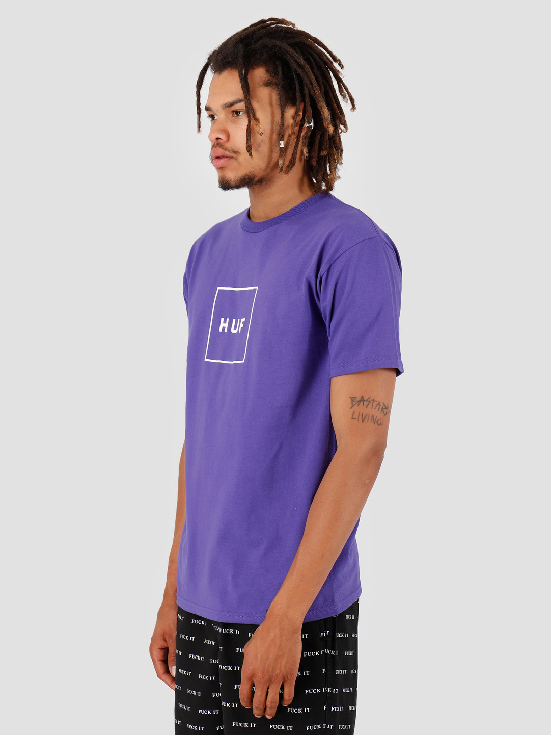 HUF HUF Essentials Box Logo Shortsleeve Ultra Violet TS00507