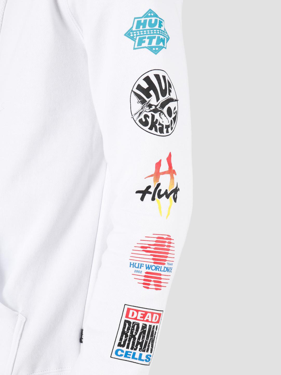 HUF HUF Sticker Wars PO Hoodie White PF00144