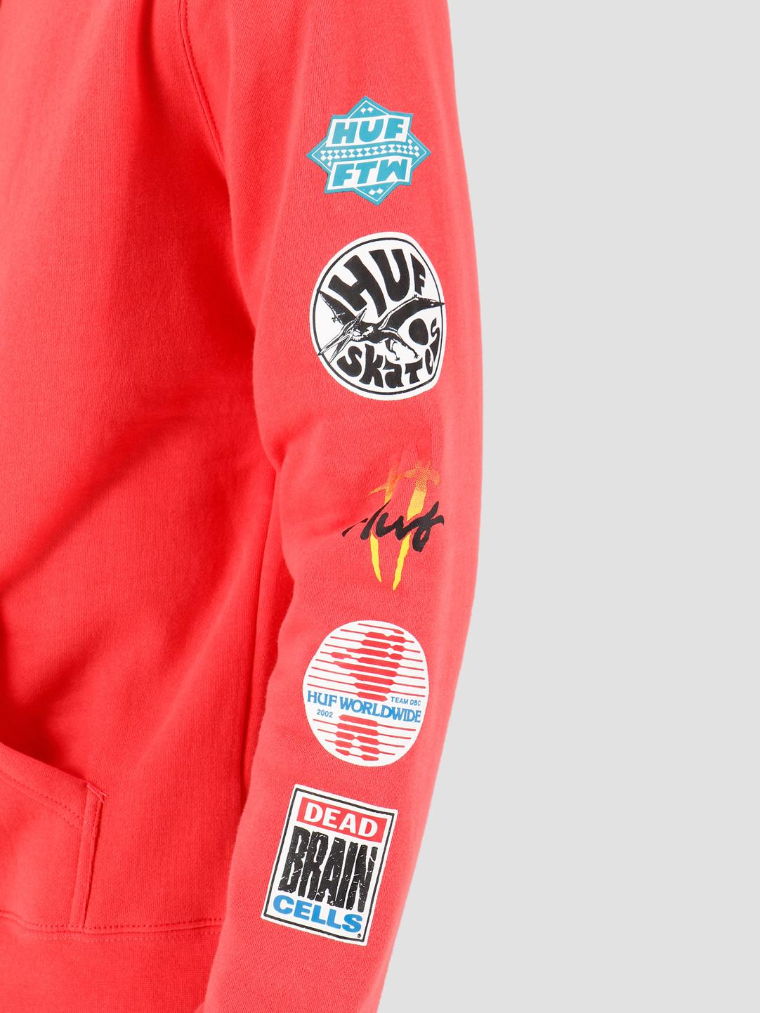HUF HUF Sticker Wars PO Hoodie Cayenne PF00144