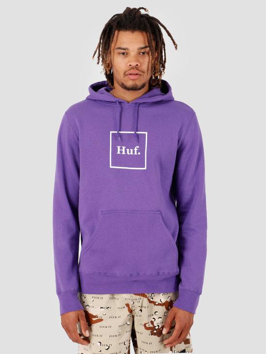 HUF Box Logo PO Hoodie Ultra Violet PF00098