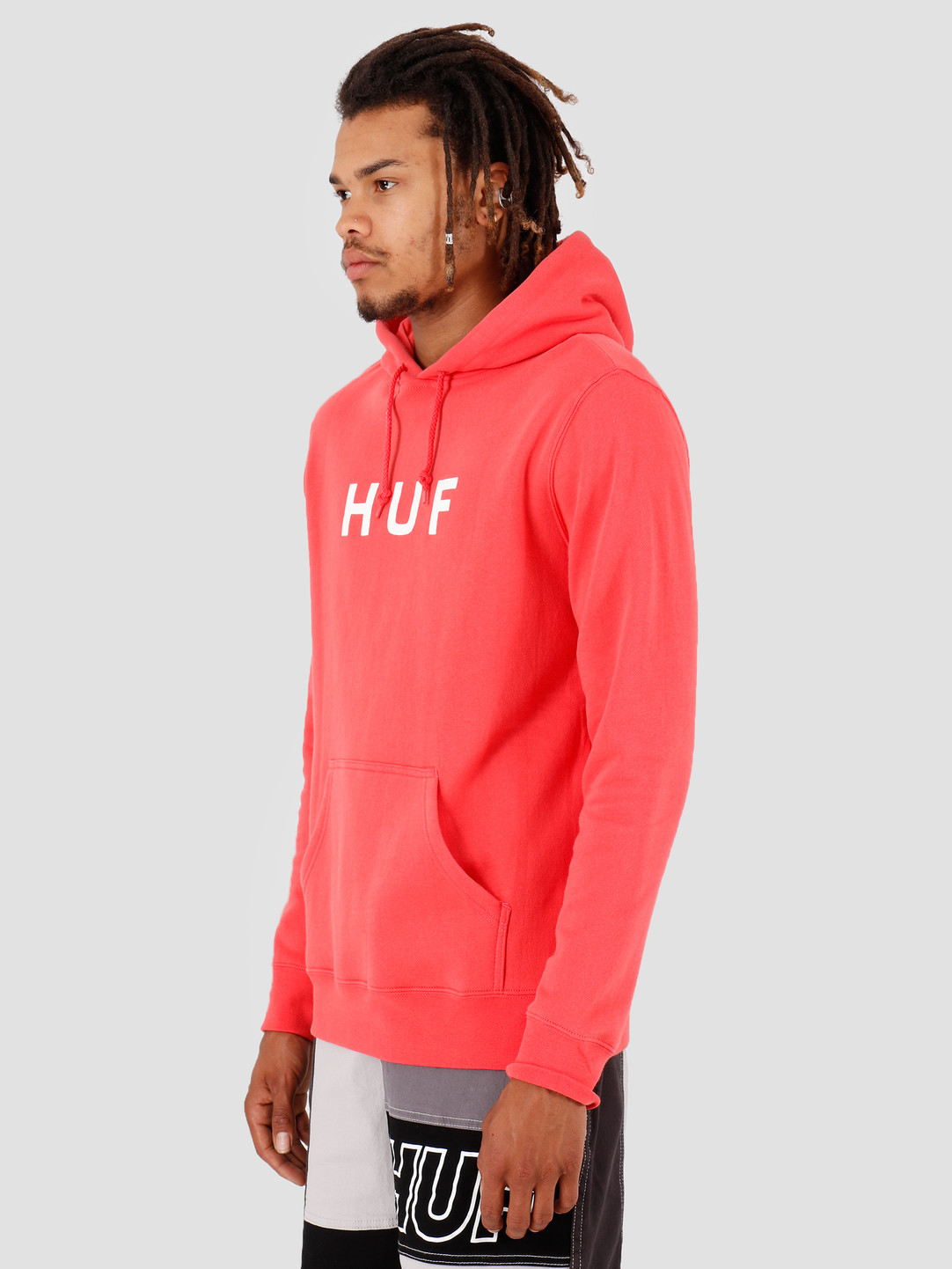 HUF HUF Essentials OG Logo PO Hoodie Cayenne PF00099