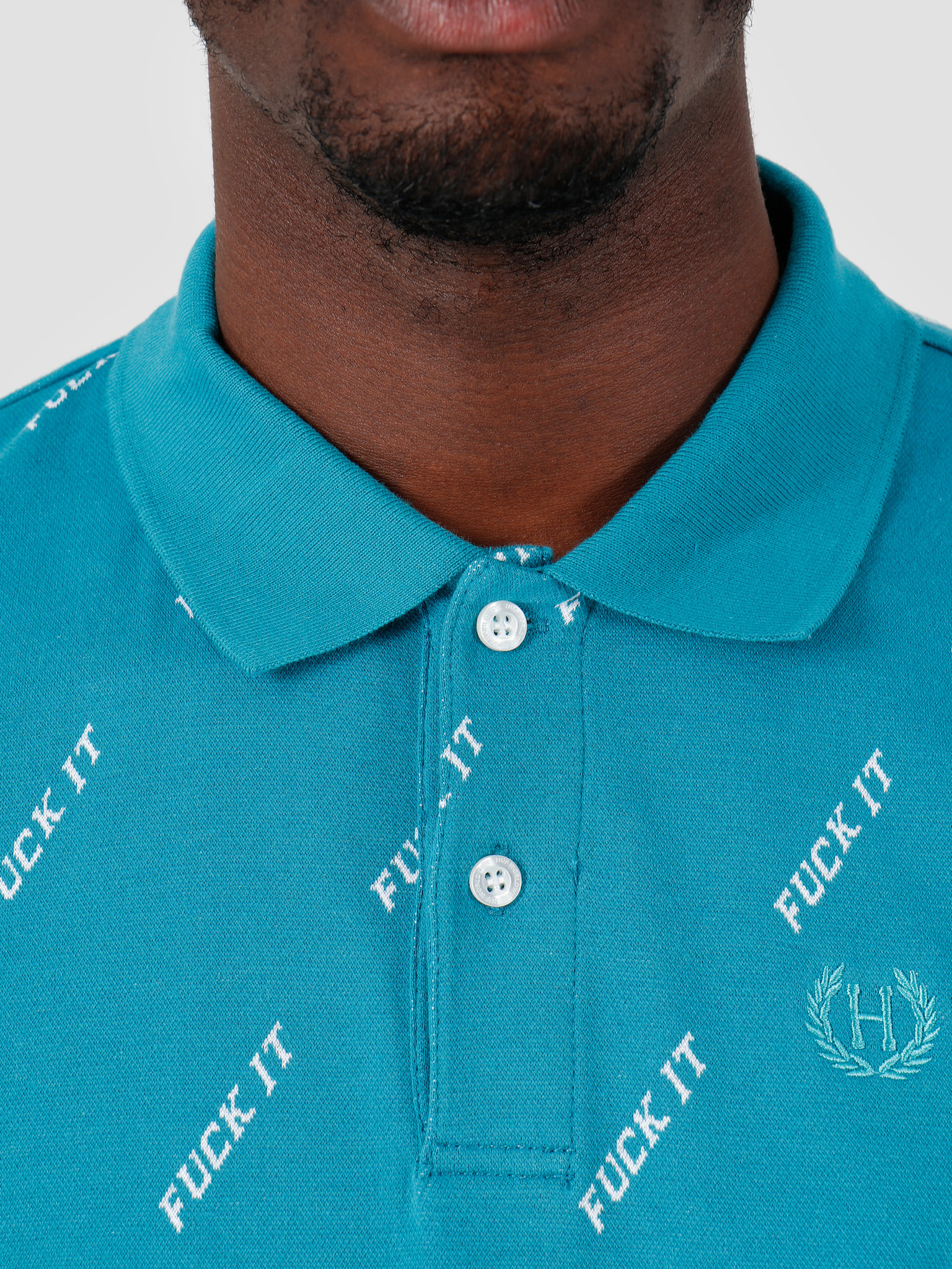 HUF HUF Fuck It Polo Biscay Bay KN00099