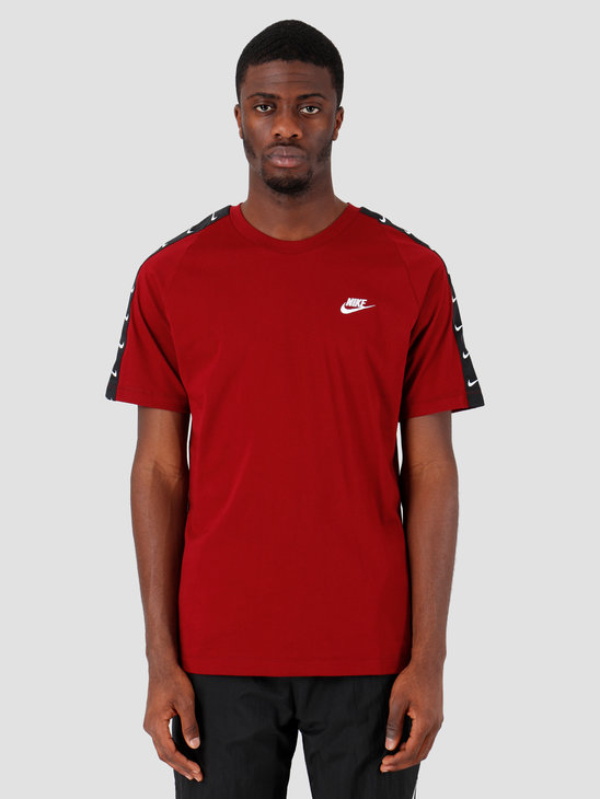 Nike NSW T-Shirt Hbr Swoosh 2 Tea Red White BQ0024-677