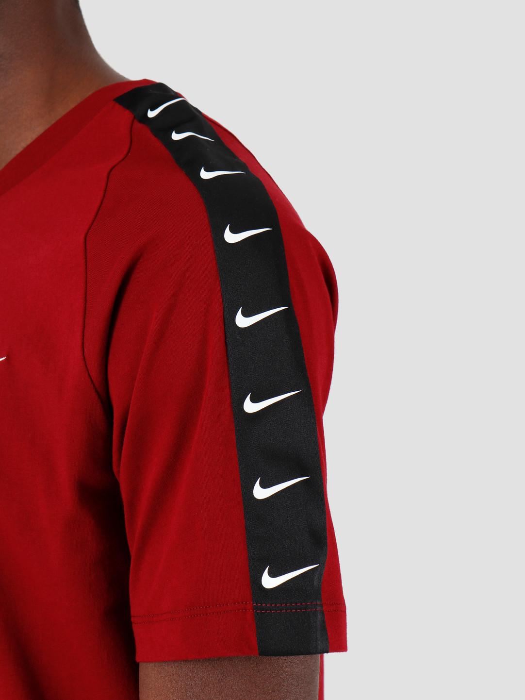 Nike Nike NSW T-Shirt Hbr Swoosh 2 Tea Red White BQ0024-677