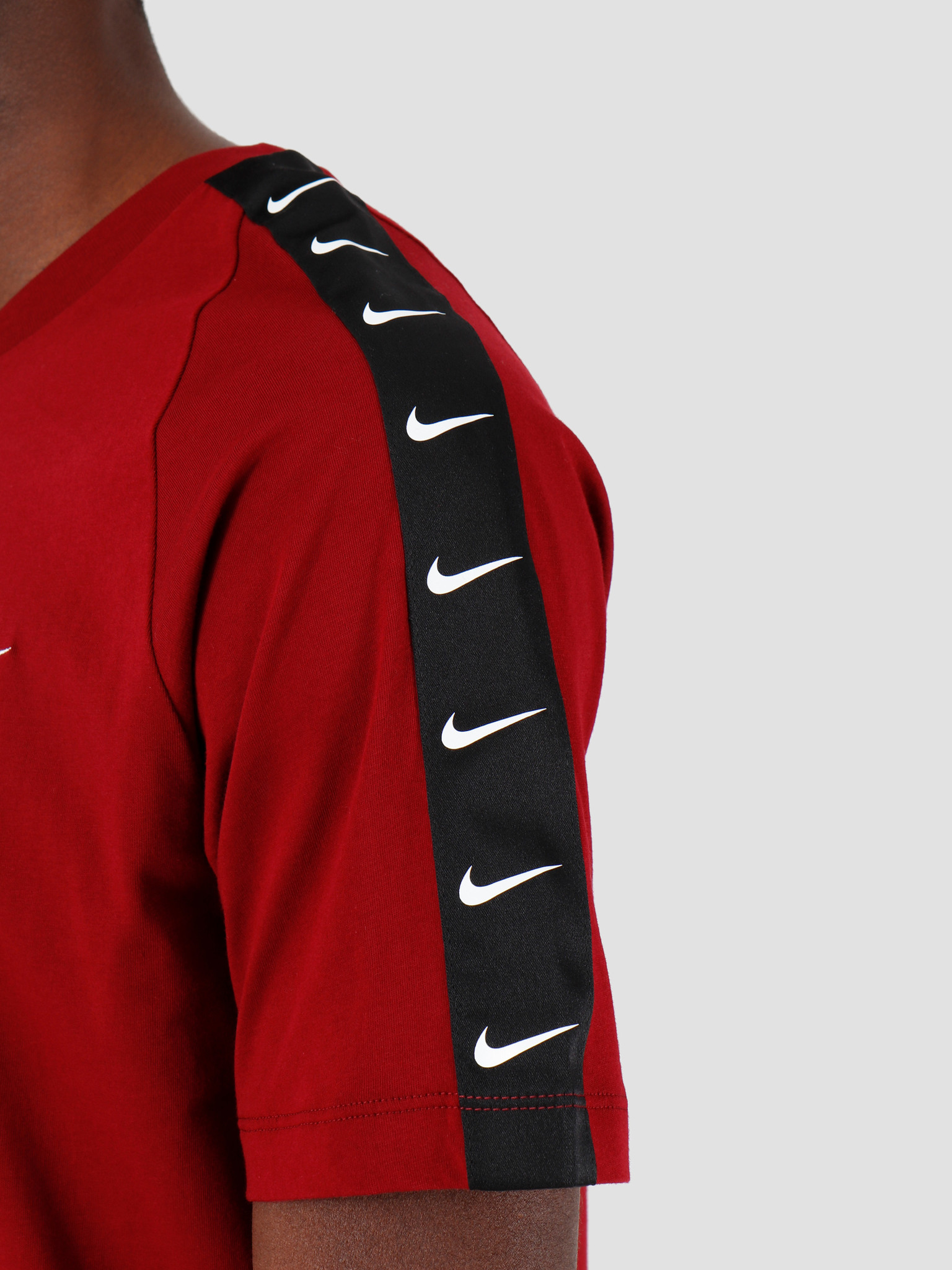 Nike Nike NSW T-Shirt Hbr Swoosh 2 Tea Red White BQ0024-677