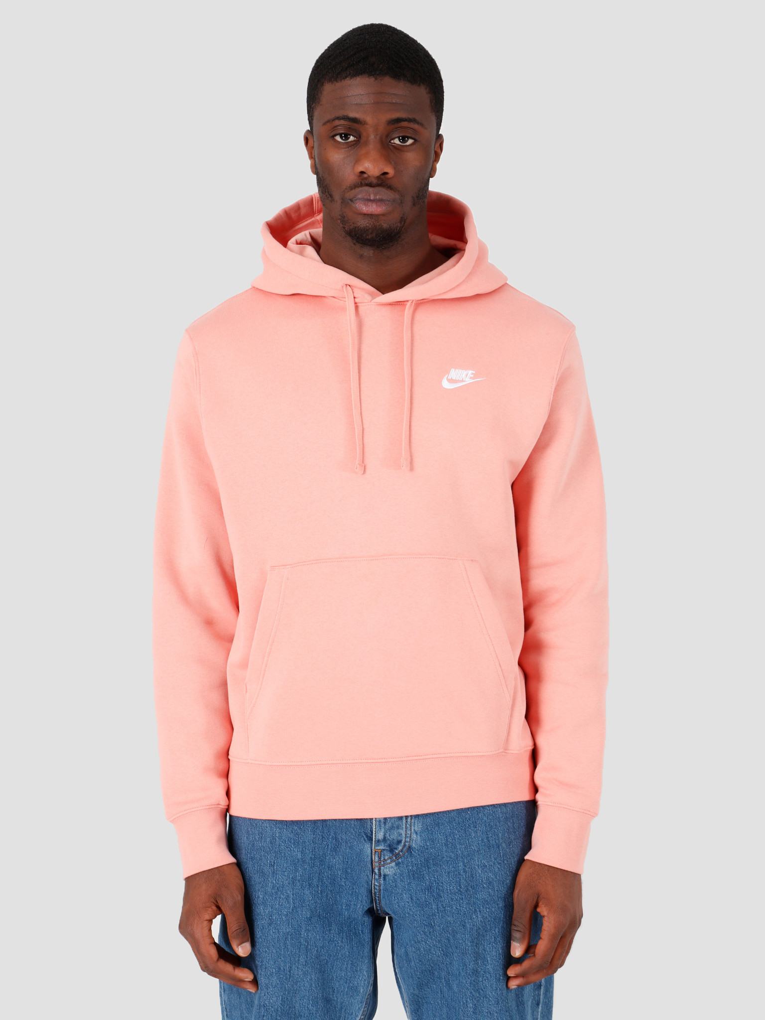 Nike NSW Club Hoodie Po Bb Pink Quartz Pink Quartz White BV2654-606