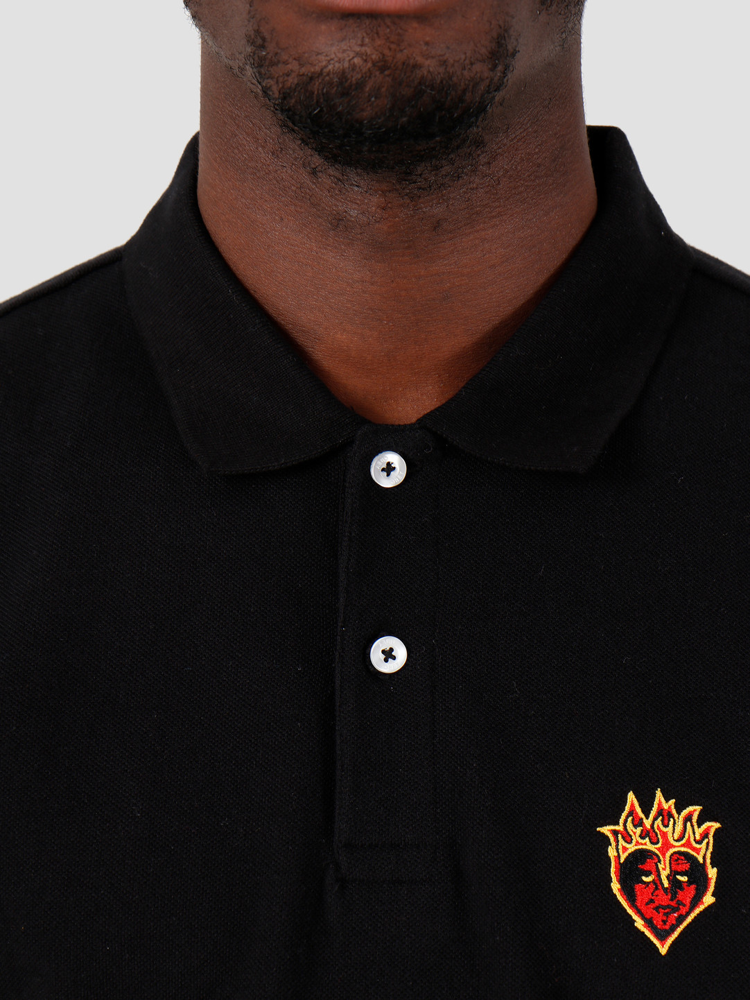 Obey Obey Giant Heart Polo Black 131090050-BLK