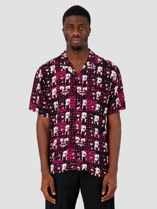 Obey Brainiac Woven T-Shirt Black Multi 181210249-BKM