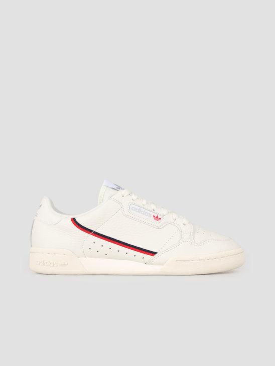 adidas Continental 80 Whitin Owhite Scarle B41680