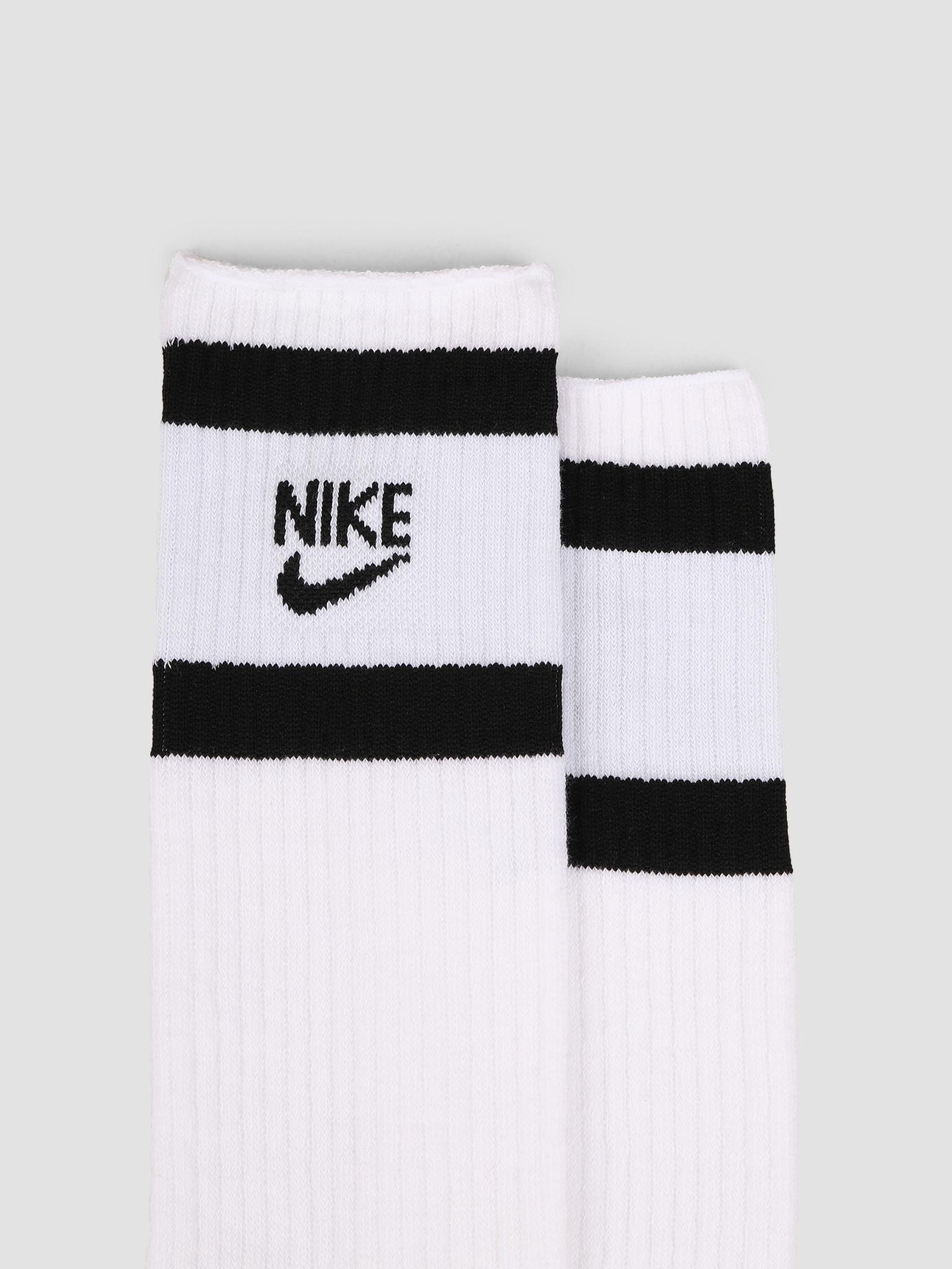 Nike Nike Heritage Crew 2Pr White Black SK0205-100