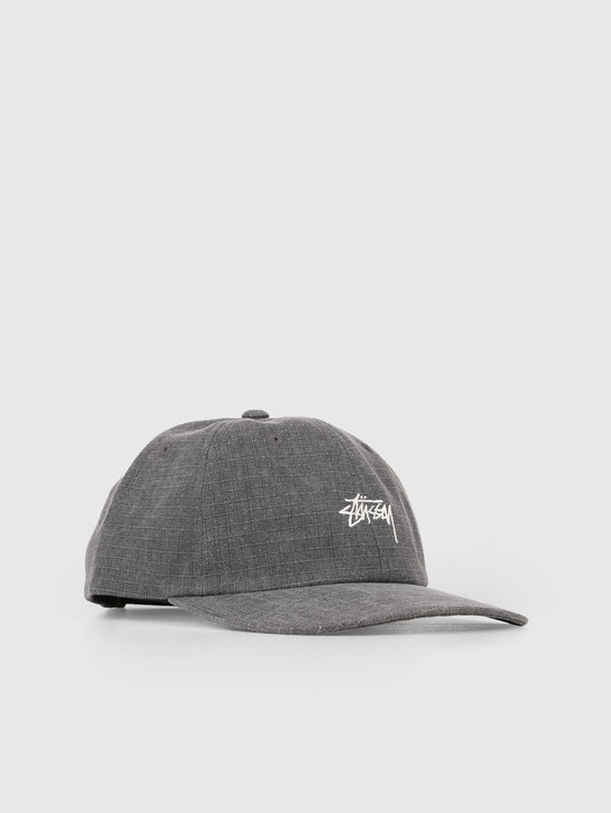 Stussy Washed Ripstop Low Pro Cap Black 0001