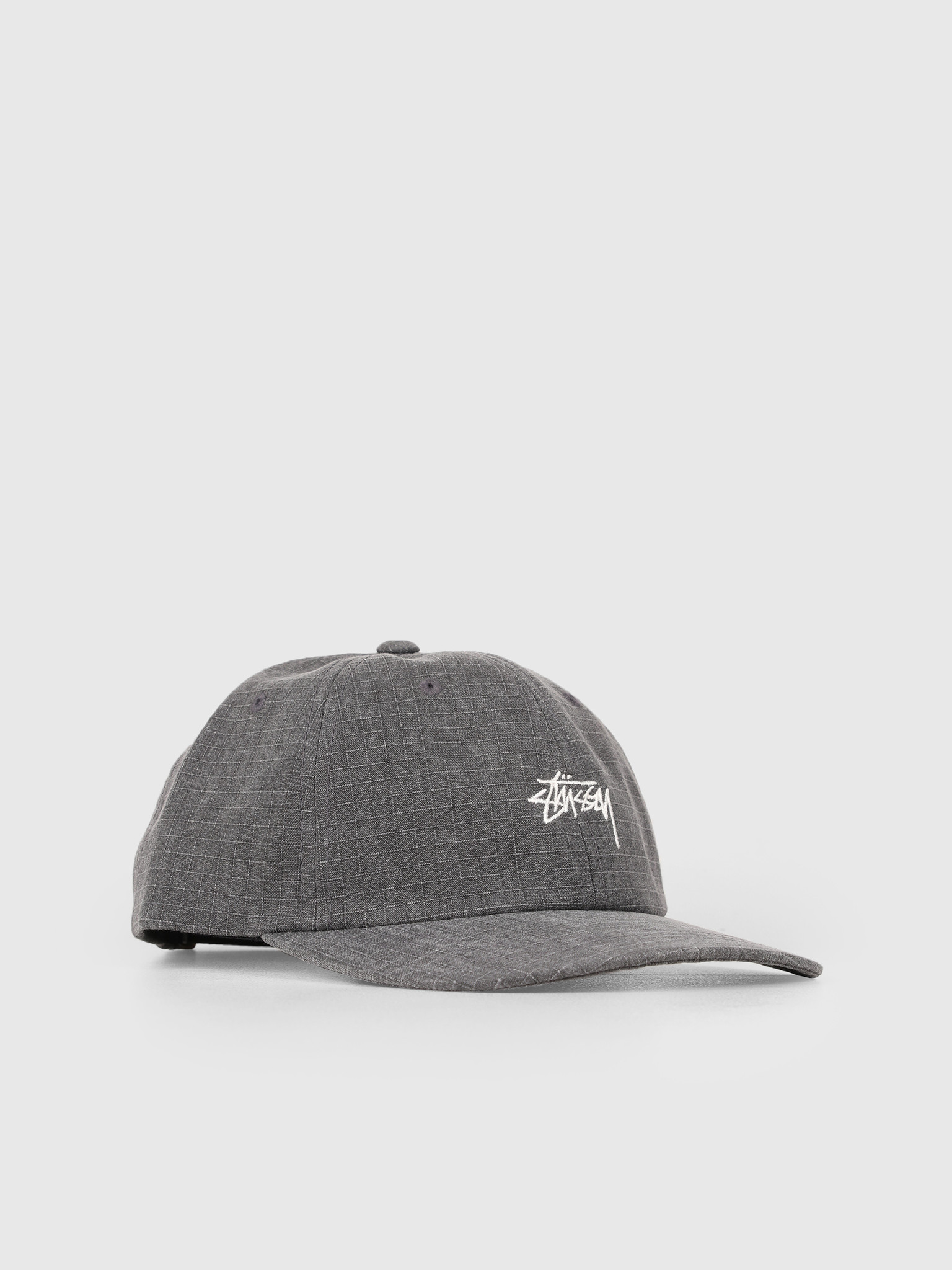 Stussy Stussy Washed Ripstop Low Pro Cap Black 0001