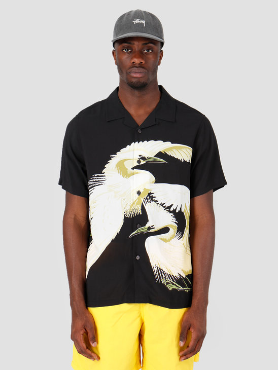 Stussy Big Crane Shirt Black 0001