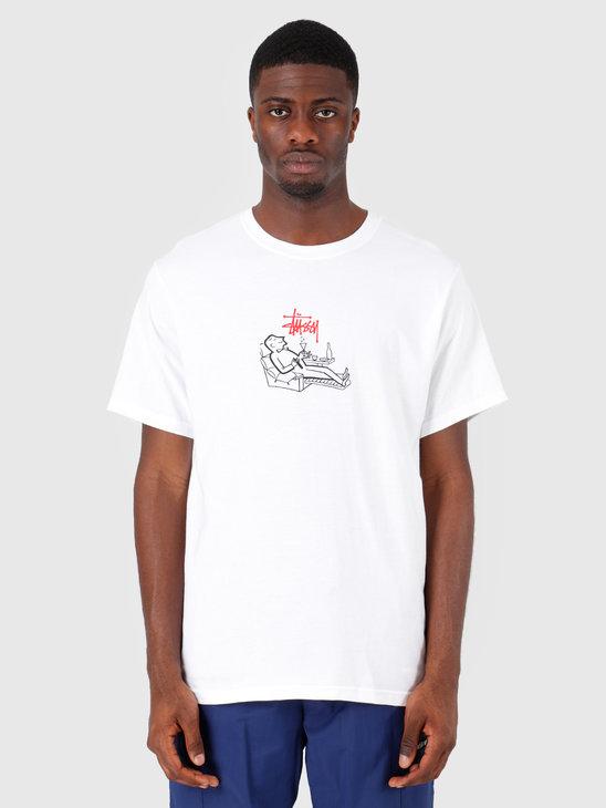 Stussy Loungin' T-Shirt White 1201