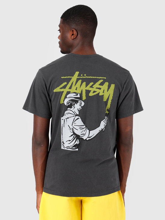 Stussy Painter Pig Dyed T-Shirt Black 0001