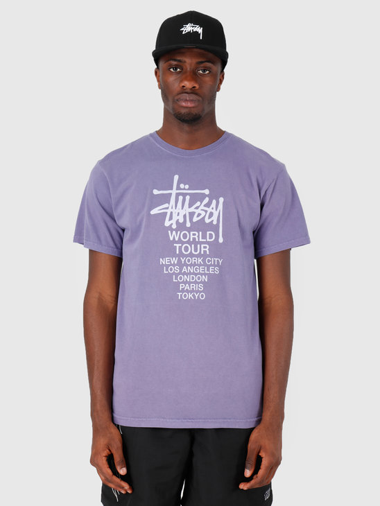 Stussy Tour Pig Dyed T-Shirt Purple 0809