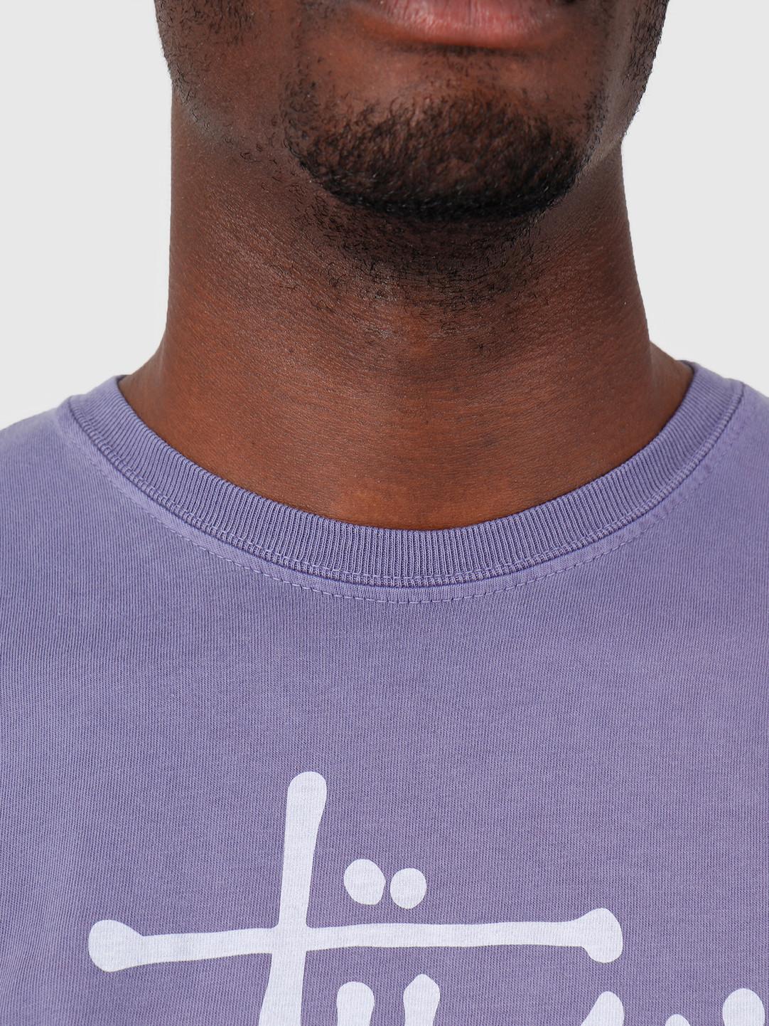 Stussy Stussy Tour Pig Dyed T-Shirt Purple 0809