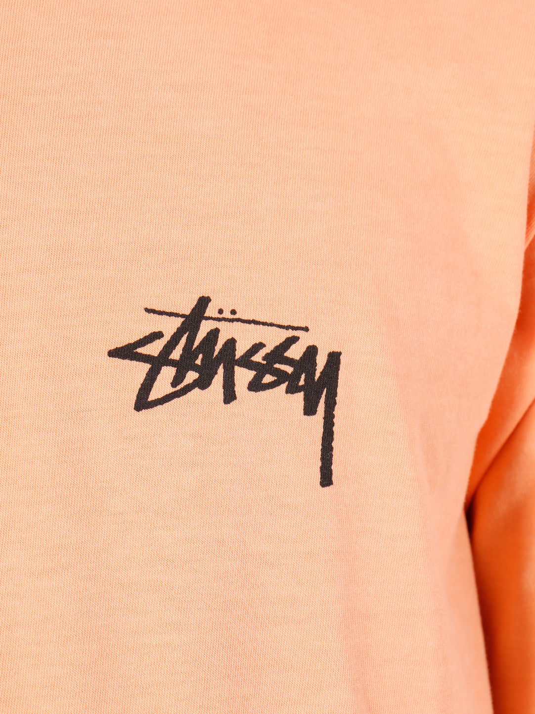 Stussy Stussy 8 Ball Stack Pig Dyed Longsleeve T-Shirt Coral 0607