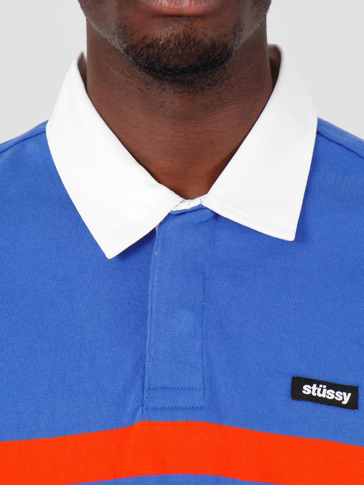 Stussy Stussy Stanley Longsleeve Rugby Blue 0801