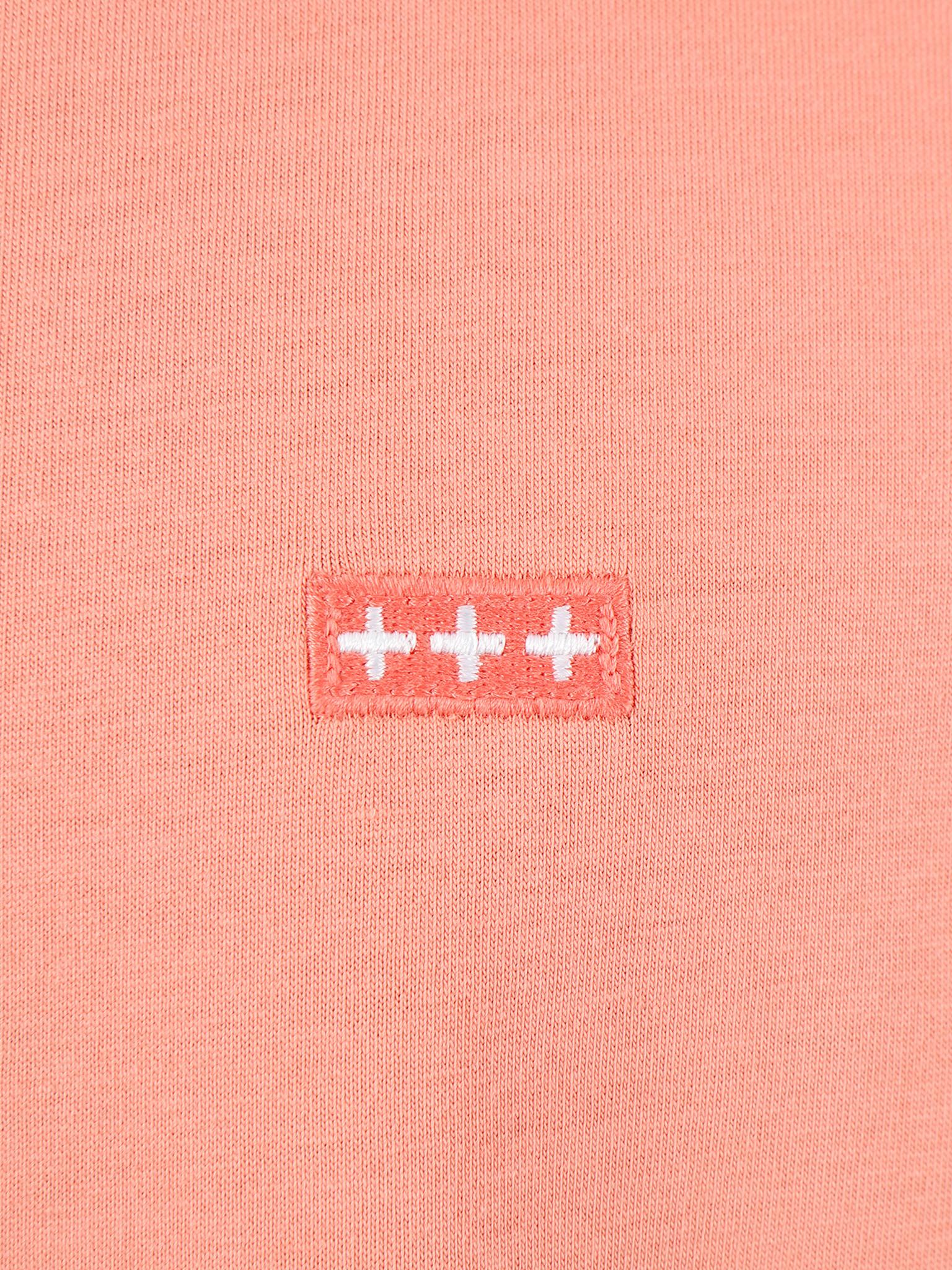 Quality Blanks Quality Blanks QB03 Patch Logo T-shirt Salmon