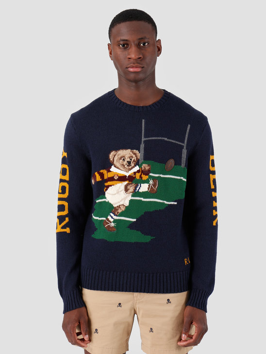 Ralph Lauren Cotton Blend Ls Bear Cn Navy 710749271001