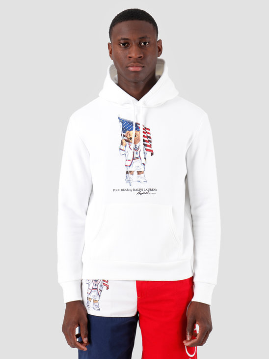 Ralph Lauren Magic Fleece Hoodie White 710746438001