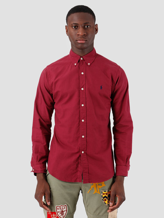 Polo Ralph Lauren Oxford Longsleeve Sport Shirt Red 710758082004