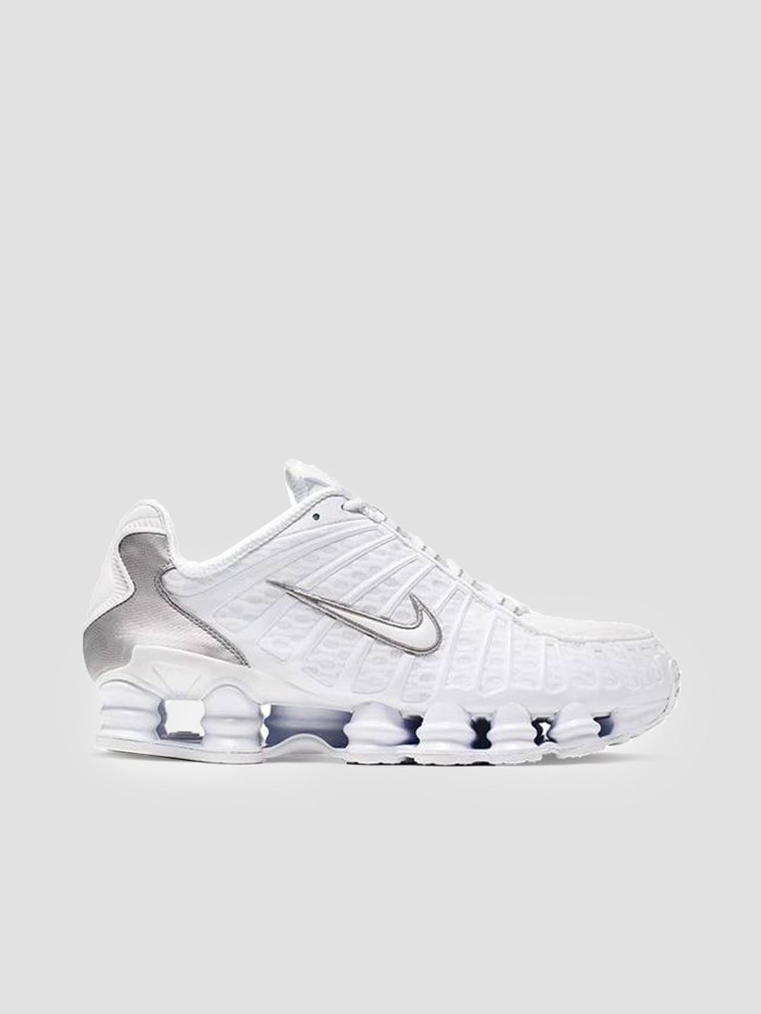 sports shoes de681 cbb6f Nike Shox Tl White White Metallic Silver Max Orange AV3595-100