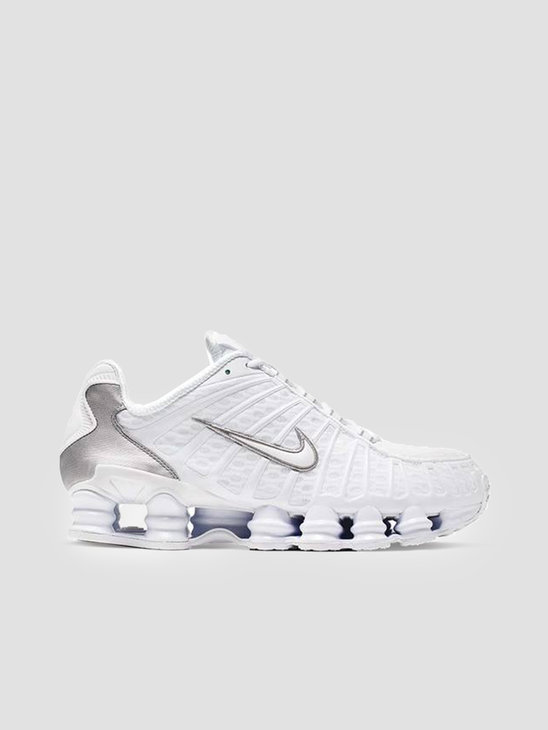 Nike Shox Tl White White Metallic Silver Max Orange AV3595-100